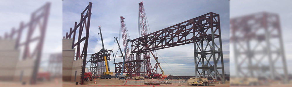 Heavy Cranes  on Site